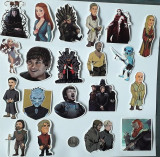 Cumpara ieftin Set de 20 stickere-personaje Game of Thrones-waterproof laptop/telefon