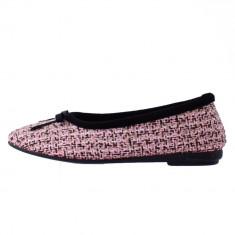 Papuc de casa dama, din piele naturala, marca Gioseppo, B29016-J1, roz cu diverse , marime: 40