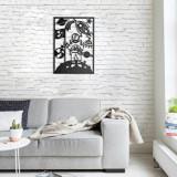 Cumpara ieftin Decoratiune pentru perete, Pirudem, metal 100 procente, 50 x 70 cm, 826PIR2073, Negru