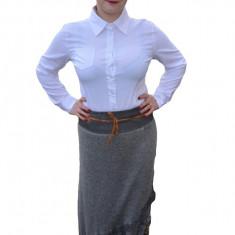 Fusta fashion din material tricotat cu insertii de dantela florala