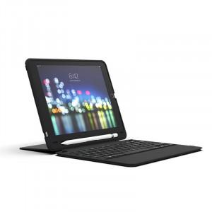 Tastatura iluminata ZAGG Slim Book Go pentru Apple iPad 9.7 (2018)/ iPad 9.7 (2017) Black