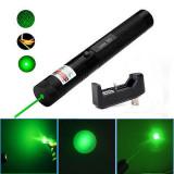 Laser Led Verde HY 303, 2 capete, Raza 1km, Acumulator inclus