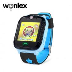 Ceas Smartwatch Pentru Copii Wonlex GW2000 cu Functie Telefon, Localizare GPS, Camera, 3G, Pedometru, SOS, Android - Albastru