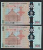 ROMANIA - 100 Lei 2019 -Ion I.C. Brătianu - 2 Bancnote- serii consecutive