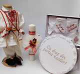 Cumpara ieftin Set Botez Traditional Raul 18 - 4 piese costumas, trusou, lumanare si cufar