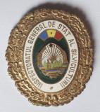Insigna Evidentiat - Ceausescu Inspectoratul General de Stat al SILVICULTURII
