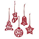 Ornamente pentru Craciun - Set 5 bucati, pasla, Alexer
