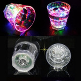 Pahar luminos LED RGB multicolor, 150 ml, din acril, 9x8 cm, PRC