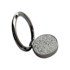 Suport Telefon , Inel / Ring, Glitter, Metal, Silver