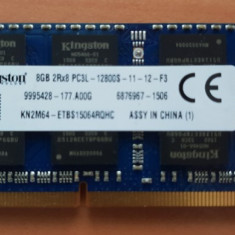 Memorii Laptop Kingston 8GB DDR3 PC3L-12800S 1600Mhz 1.35V
