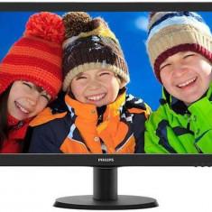 Monitor MVA LED Philips 23.6inch 243V5QHABA, VGA, DVI, HDMI, 8 ms, Boxe (Negru)