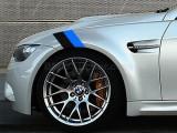 Sticker ornament auto BMW FLAG - BLACK/BLUE (20cm x 12cm) ManiaStiker, AutoLux