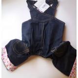 Salopeta jeans cu bretele - 497.4 (MARIME: 25 cm)
