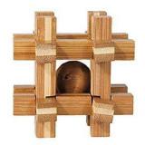 Cumpara ieftin Joc logic IQ din lemn de bambus Box with ball