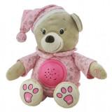 Cumpara ieftin Jucarie din plus cu proiector Happy Bear Pink Baby Mix