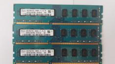 Kit 8 GB( 2 x 4 Gb )  HYNIX DDR 3 PC3-12800U 1600 MHz , Memorie PC Desktop foto