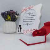 Set cadou,pentru iubita, cu rama foto si brosa cu buburuze pupacioase, realizat manual, ILIF10216