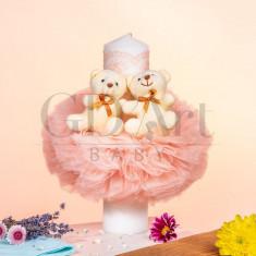 Lumanare Globulet Tulle Double Bear Somon BB-017, GD Art Baby