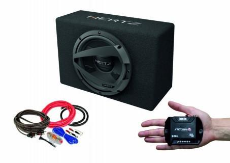 Pachet Subwoofer auto Hertz DBX 25.3 + Amplificator Stetsom IR 280.1 + Kit de cabluri complet