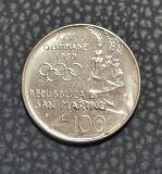 San Marino 100 lire 1980 Olimpiada XXII, Europa