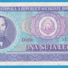 (12) BANCNOTA ROMANIA - 100 LEI 1966, PORTRET NICOLAE BALCESCU,STARE FOARTE BUNA