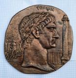 Placheta Imparatul Traian - 18 cm - medalie unifata
