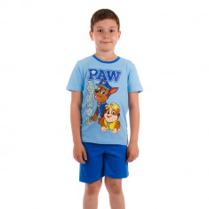 Pijama baieti Paw Patrol Chase & Rubble bleu