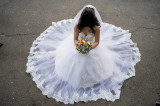 Rochie de mireasa confectionata manual - Bucuresti