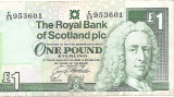 Scotia 1 Pound Sterling 24.01.1996 - 953601, P-351c