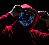 Cumpara ieftin Masca Purge Horror cu LED, albastru