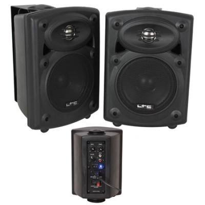 Set 2 boxe monitor, RCA, Bluetooth, amplificator integrat, 80 W foto