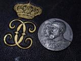Regele Carol I si Regina Elisabeta 1913 Alipirea Cadrilaterului * ARGINT