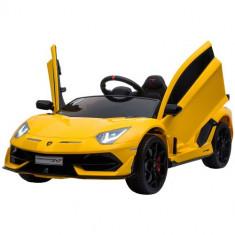 Masinuta Electrica Lamborghini Aventador SVJ Yellow