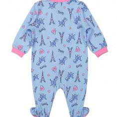 Salopeta / Pijama bebe Paris Z21, 1-2 ani, 1-3 luni, 12-18 luni, 3-6 luni, 6-9 luni, 9-12 luni, Albastru
