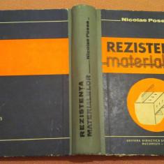 Rezistenta Materialelor - Nicolae Posea, Didactica si Pedagogica, 1979