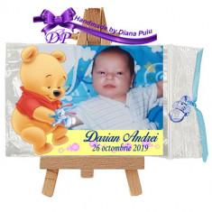 Marturii botez magnet contur Winnie the Pooh Handmade by Diana Puiu MCBW 1