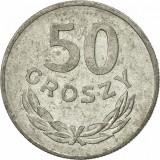 50 Groszy 1983 Poland, Europa, Aluminiu