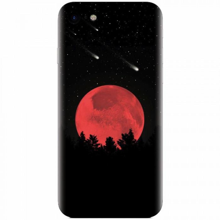 Husa silicon pentru Apple Iphone 6 Plus, Blood Moon