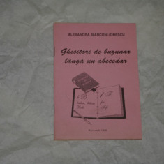 Ghicitori de buzunar langa un abecedar - Aexandra Marconi-Ionescu - 1996