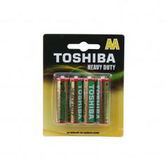 Baterii AA R6 Toshiba Heavy Duty, 1.5V, set 4 bucati