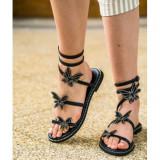Butterfly Sandals Negru 40
