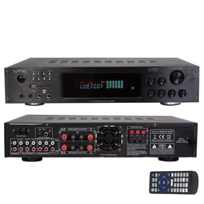 Amplificator stereo LTC echipat cu tuner digital, posibilitate de redare MP3 de pe USB, SD foto