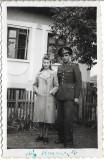 Fotografie militar roman Bucuresti poza veche romaneasca interbelica