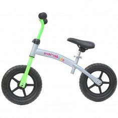 Bicicleta fara pedale transformabila 12 inch - Mamakids - Gri cu Verde