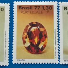 BRAZILIA-1977-''MINERALE-CRISTALE''-serie  EU-CEPT- MNH