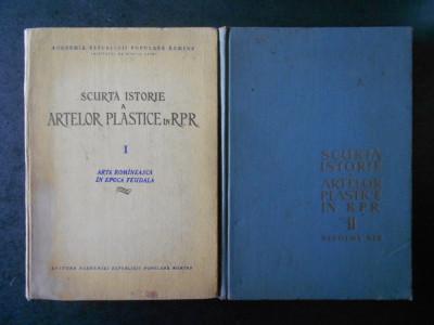 GEORGE OPRESCU - SCURTA ISTORIE A ARTELOR PLASTICE IN ROMANIA 2 volume foto