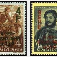 Ungaria 1945 - Pacea, supr., serie neuzata