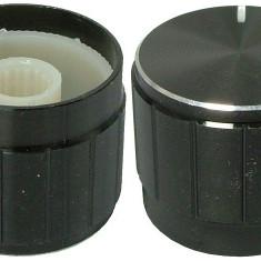 Buton pentru potentiometru, 21mm, aluminiu, 21x17mm - 127529