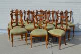 Set 12 scaune Impero, Empire, 1900 - 1949