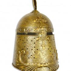 Coif medieval decorativ din alama masiva RX-368